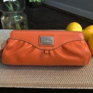 Cole Haan Leather Cosmetic Case or Clutch - NWT